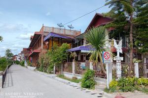 House in traditional Thai style,  Dan Sai, Loei province, Thailand