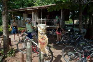 Cycling on holiday, Loei province, Thailand