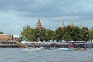 Pleasure boat on the Chao Phraya River, Bangkok, Thailand