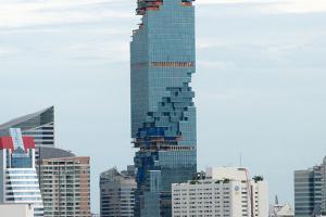 Construction of a skyscraper in Bangkok Bangkok, Thailand