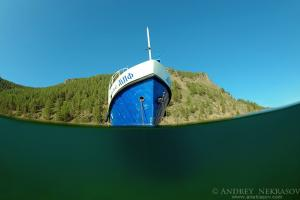 Ship, lake Baikal, Siberia, Russia, Eurasia