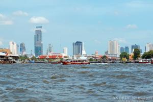 View of Bangkok from the Chao Phraya River, Bangkok, Thailand