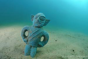 antique statue at the bottom of Lake Baikal, Siberia, Russia, Eurasia